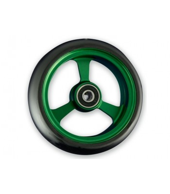 4 Inch Frogs Legs Aluminium Wheelchair Caster - Green