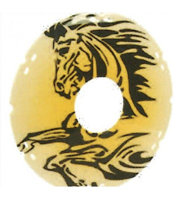 24 Inch Abstract Horse Design Spoke Guard