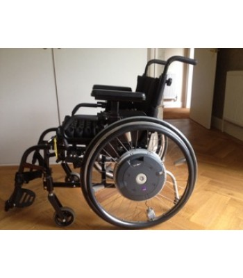 Second Hand Quickie Lightweight Folding Wheelchair With Alber E-motion M15 Powered Wheels