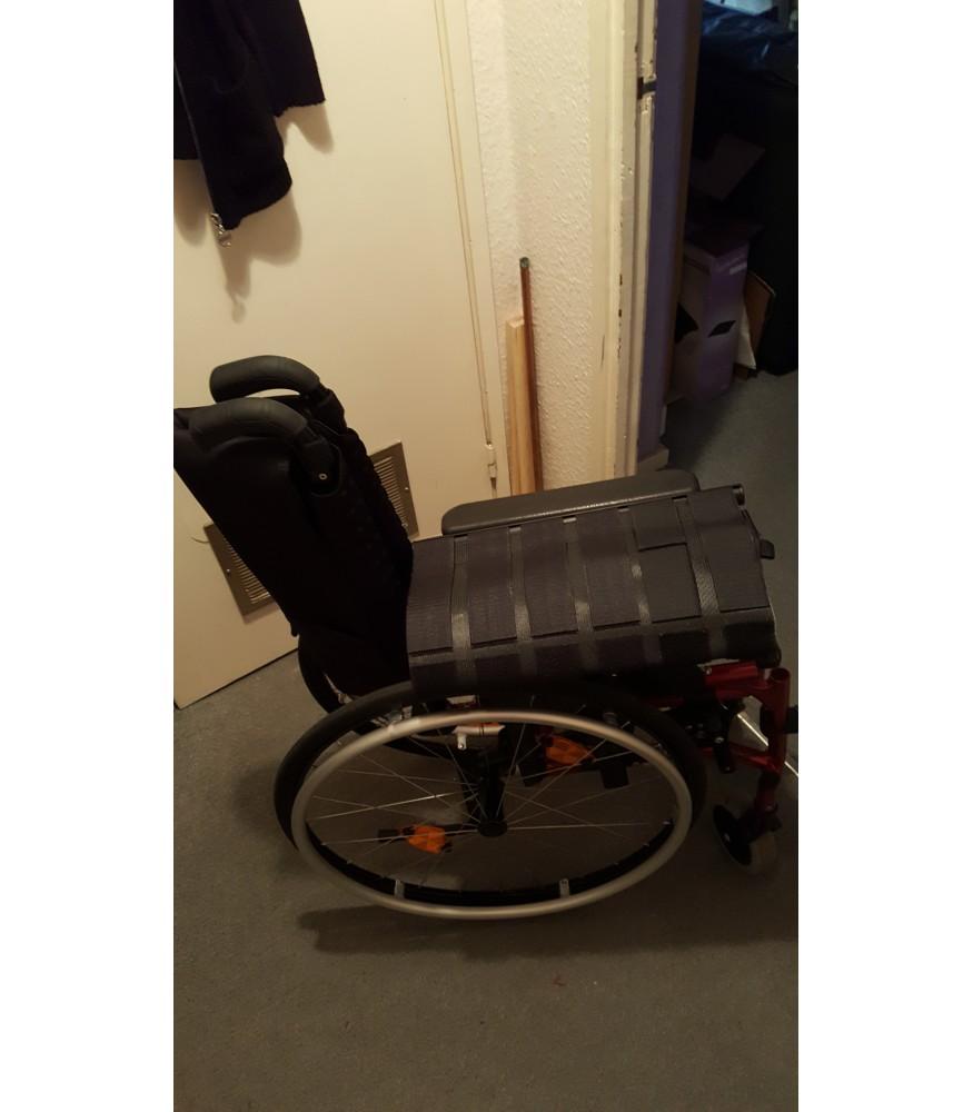 long leg in a wheelchair