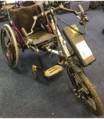 Second Hand Cougar Power Assisted Hand Cycle + Rigid Frame Wheelchair