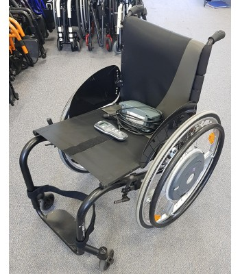 Second Hand Ex - Demonstration Kuschall K series Everyday Wheelchair With Alber Emotion M15 Power Assistance Wheels