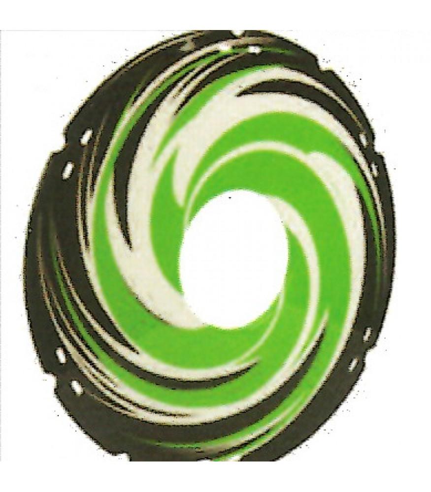 22 inch green swirl design spoke guard sp22d2