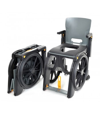 Wheelable Travel Shower and Commode chair